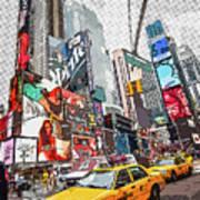 Times Square Pop Art Art Print