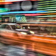 Times Square Traffic Art Print