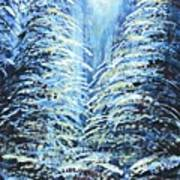 Tim's Winter Forest Art Print