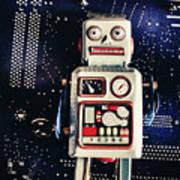 Tin Toy Robots Art Print