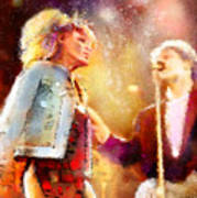 Tina Turner And Bryan Adams Art Print