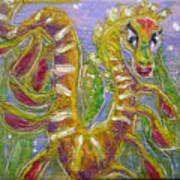 Tiny Anthropomorphic Sea Dragon 3 Art Print