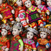 Tiny Chinese Dolls Art Print