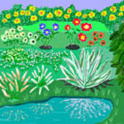 Tiny Garden  Art Print