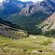 Tiny Hikers On The Mount Massive Summit Art Print