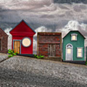Tiny Houses On Walnut Street Art Print