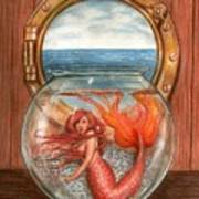 Tiny Mermaid Art Print