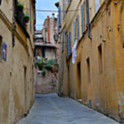 Tiny Street In Siena Art Print