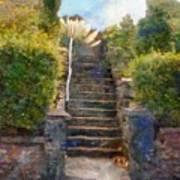 Tipsy Stairs Art Print