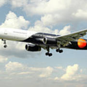 Titan Airways Boeing 757 Art Print