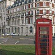 Titanic Hotel And Red Phone Box Art Print