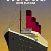 Titanic Ocean Liner Art Print by Michael Tompsett