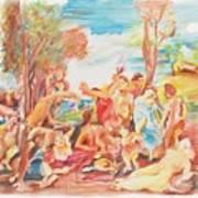 Titian Bacchanalia Color Art Print