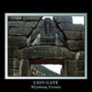 Titled Lion Gate Of Mycenae Art Print