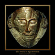 Titled Mask Of Agamemnon Art Print