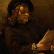 Titus Van Rijn, The Artist's Son, Reading Art Print