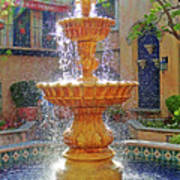 Tlaquepaque Fountain In Sunlight Art Print