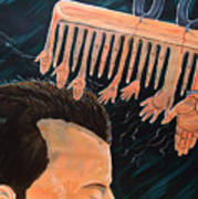 To Comb The Social Reactions Art Print