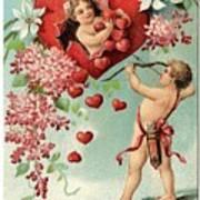 To My Valentine Vintage Romantic Greetings Art Print