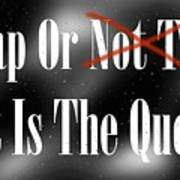 To Nap Or Not To Nap That Is The Question Art Print