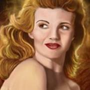 To Rita Hayworth Art Print