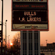 To The Bulls Game Art Print