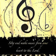 To The Lord - Yellow Art Print