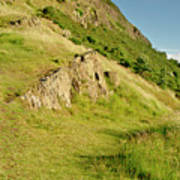 To The Top Of Arthur's Seat. Art Print