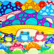Toads And Toad Stools Art Print