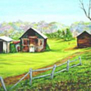 Tobacco Barns North Carolina Art Print
