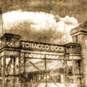Tobaco Dock London Vintage Art Print