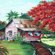Tobago Country House Art Print