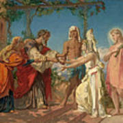 Tobias Brings His Bride Sarah To The House Of His Father Tobit Art Print