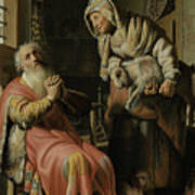 Tobit And Anna With The Kid Art Print