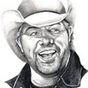 Toby Keith Art Print