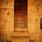 Todi Italy Medieval Door  Art Print