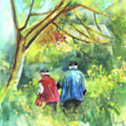 Together Old  In Italy 07 Print by Miki De Goodaboom