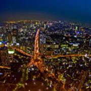 Tokyo At Night Art Print