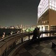 Tokyo Bay Nightview From Harumi Port Art Print