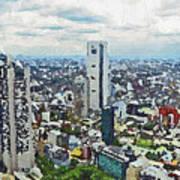 Tokyo City View Art Print