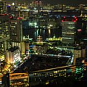 Tokyo Cityscape And Bay Area Art Print