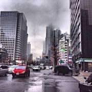 Tokyo Cloudy Art Print