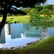 Tokyo Skyscrapers Reflection Art Print