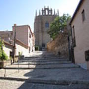 Toledo Steps To Cathedral Art Print