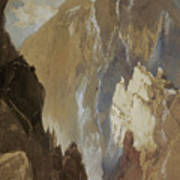 Toltec Gorge And Eva Cliff From The West, Colorado, 1892 Art Print