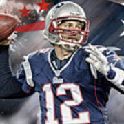 Tom Brady New England Patriots Art Print