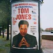 A Rare Collectible Poster Of Tom Jones In Russia Art Print