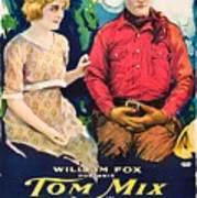 Tom Mix In Treat'em Rough 1919 Art Print
