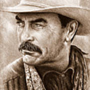 Tom Selleck The Western Collection Art Print