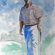 Tom Watson In Dubai Art Print